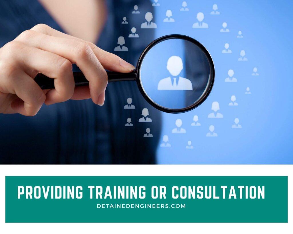 Providing Training or consultation